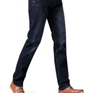 Jeans Plain Pattern dark blue